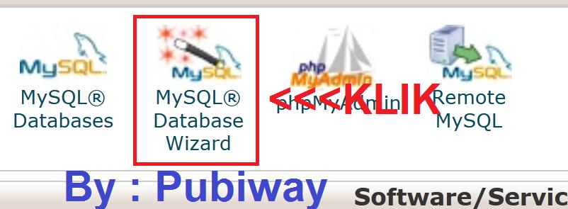 Cara Mudah Membuat Database di cPanel X